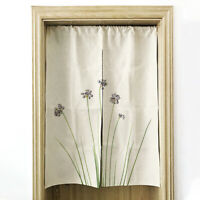 Household Window Curtain Drapes Panel Valance Shade Floral Pattern Curtains D