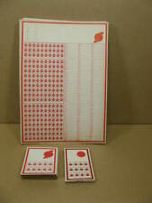 Lot of 32 Vintage Early Blank Unused Punchboards. Brewer Chicago Usa