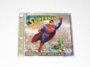 Superman Menace Of Metallo PC Game Brand New Sealed 1999 Multipath Adventures