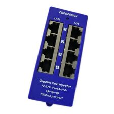 Passive Gigabit PoE Injector 4 port (POE-INJ-4-G) 10/100/1000M Ethernet LAN RJ45
