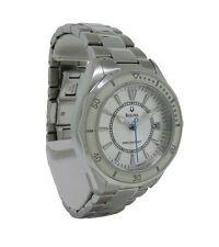 Bulova Precisionist 96M123 Women's Round Analog Date Silver Tone Watch