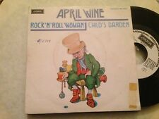 "APRIL WINE SPANISH WHITE LABEL 7"" SINGLE SPAIN ROCK N' ROLL WOMAN - CLASSIC ROCK"