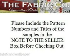Fabric & wallpaper samples $3 ea see below for details