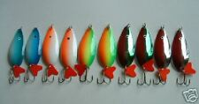 """10 NEW Assorted Spoon Metal Fishing Lure Bait Lot 3"""""""