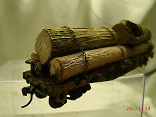 6 Logging Cars - most beautiful weathered, handcrafted -new - original look-lot5
