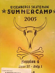 Eisenbergs Skatepark CAMP 2005, SESSION 4, SKATEBOARD, ROLLERBLADE, BMX dvd, new