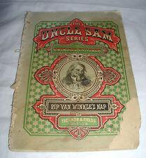 ANTIQUE UNCLE SAM SERIES FOR AMERICAN CHILDREN RIP VAN WINKLE'S NAP 1870