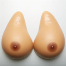 1 Pair Waterdrop Self-adhesive Medical Silicone Breast Forms C Cup Soft Enhancer