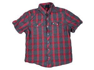 Harley Davidson Motorcycles Mens Short Sleeve Button Up Shirt Size XL