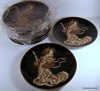 Seldom Seen Fitz & Floyd IMPERIAL GEISHA Dessert Plate Never Used Set of SIX