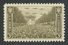 1945 Arc de Triomphe Arch de Triumph Monument Paris France WWII US Army Stamp !