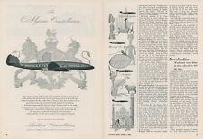 1949 Lockheed Constellation Ad South African Airways Airplane Air Travel Vintage