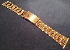 ROWI Made in Germany 24mm Gold Tone Bracelet Watch Band Deployment Buckle $39.95