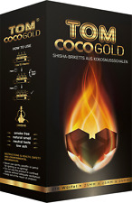 TOM Cococha Premium Gold 3 kg - Shisha & Grill Natur-Kohle aus Kokosnuss AKTION