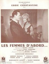 ▬►1963 Synopsis Les Femmes d'Abord Eddie Constantine_Christiane Minazzoli
