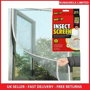 MOSQUITO FLYING INSECT WINDOW SCREEN - Net Mesh Fly Moth Netting 130 X 150cm
