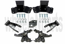 Spindles Shackles & Hangers Lowering Kit For 1988-98 Chevy GMC Pickup 2/4 Drop