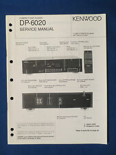 KENWOOD DP-6020 CD PLAYER SERVICE MANUAL ORIGINAL FACTORY ISSUE GOOD CONDITION