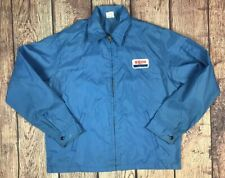 Vintage Exxon Mobile Jacket Windbreaker Size Large Made In USA 70s