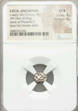Lycia Obol, Uncertain Mint NGC *VF 4/4 Ancient Silver Coin RARE!