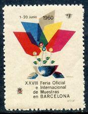 STAMP / TIMBRE VIGNETTE / ESPANA / ESPAGNE BARCELONA / XXVIII FERIA 1960