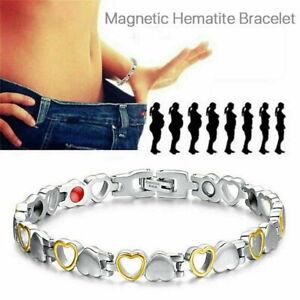 Ladies Magnetic Health Bracelet Carpal Tunnel Relief Arthritis Chronic Pain UK