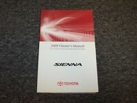 2009 Toyota Sienna Minivan Owner Owner's Operator Guide Manual CE LE XLE 3.5L V6