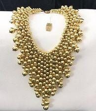 Miriam Haskell Gold Bead Cluster Cascading Bib Necklace RUNWAY STATEMENT