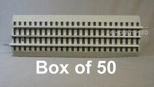 LIONEL FASTRACK LOT 10 INCH STRAIGHT BOX 50 train 3 rail O Gauge 6-12014 (50)