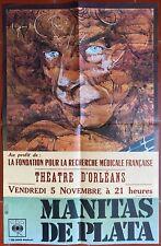 Affiche concert MANITAS DE PLATA Théâtre d'Orléans RAYMOND MORETTI 70's