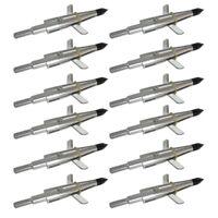 "12 X Archery 1.75"" Cut 100Gr Broadhead for Crossbow Compound Bow arrowhead Tips"