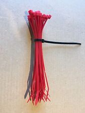Cable Ties. 4.8 X 200mm. Bundle Of 50. Red