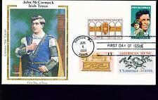 1984 FDC - Scott# 2090 COMBO - John McCormack - Colorano Silk Cachet   UA