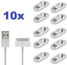 10 x 1m iPhone 4 4S 3G 3GS iPod & iPad Charger Charging USB Lead Data Sync Cable