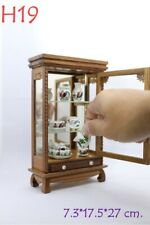 Small Vintage Cabinet Teak Wood Thai Carved Handmade Craft Cupboard FurnitureH19