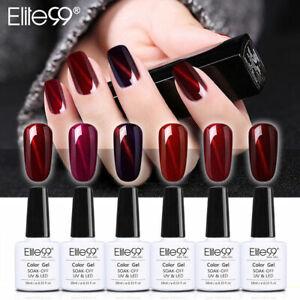 Elite99 Wine Red 3D Cat Eye Nail Gel Polish Magnetic Varnish Base Top Coat 10ML