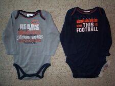 (2) Chicago Bears nfl INFANT BABY NEWBORN Jersey Shirt 18M 18 M 18 Months