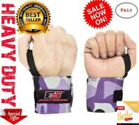 Best Wrist Wraps LIFTING STRAPS for POWER LIFTING Support CROSSFIT Gym WEIGHT