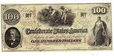 Confederate T-41 Pf-53 $100 note Dated Jan. 2, 1863 Rarity 7
