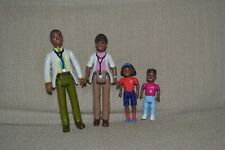 Playskool Dollhouse African American Family. Dr. Dad, Dr. Mom, sister, brother