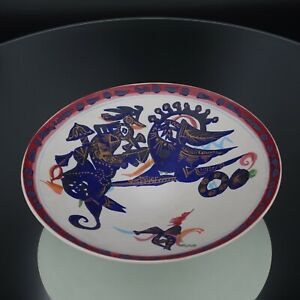 """Rosenthal Germany 11"""" Abstract Bowl Signed Portanier"""