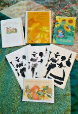 Lot Thanksgiving Greeting Cards New & hand made squirrels sunflowers pilgrims
