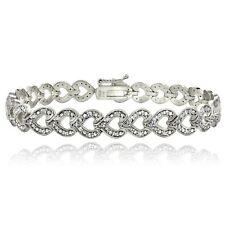 1ct TDW Diamond Heart Link Bracelet