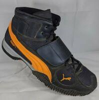 Puma Meru Black Orange High Hi-Top Shoes Boots Hiking Golf Mens Sz 11.5 ID Cell