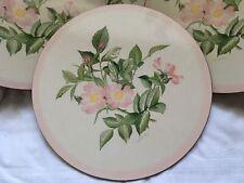Vintage Pimpernel Floral Pink Rose Traditional 6 Placemats Cork Table Mats Set