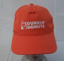 Dunkin Donuts Adjustable Orange Baseball Hat Cap Snapback Youth
