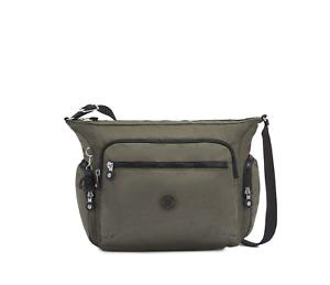 Kipling Gabbie Medium Shoulder Crossbody Bag GREEN MOSS RRP £93