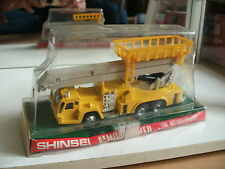Shinsei Mini Power Fuse Aerial Work Vehicle in Yellow on 1:70 in Box