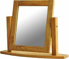 Heath solid oak furniture dressing table swing mirror