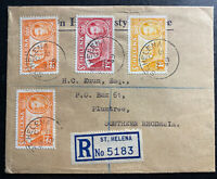 1949 St Helena Registered Cover To Plumtree Southern Rhodesia